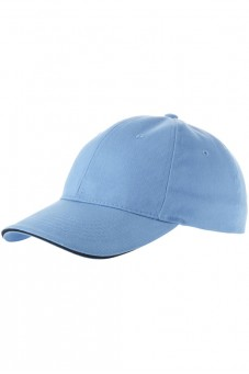 Бейсболка голубая